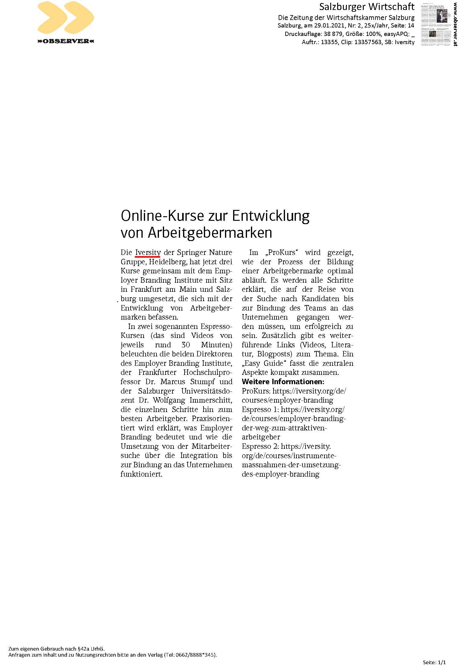 Online-Kurse zur Entwicklung von Arbeitgebermarken