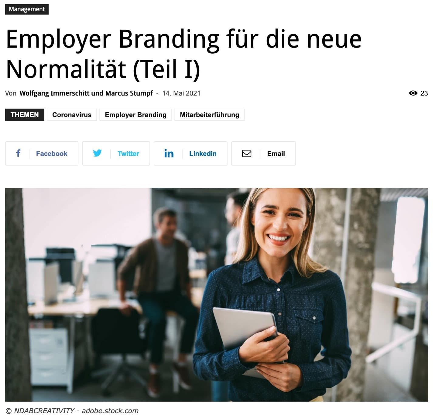 Employer Branding für die neue Normalität (Teil 1)
